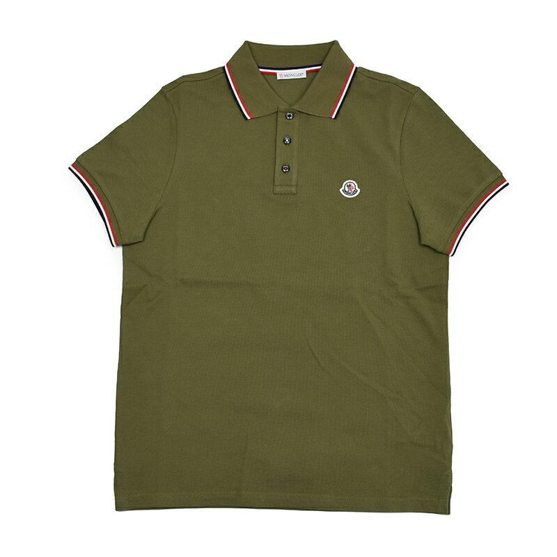 MONCLER モンクレール カーキ半袖ポロシャツ メンズ イタリア正規品 8A70300 84556 829 新品