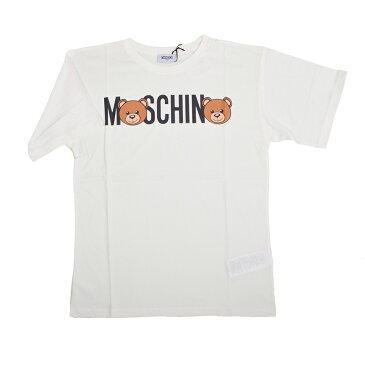 MOSCHINO モスキーノ TEEN オフホワイトテディ半袖Tシャツ イタリア正規品 HMM029 新品