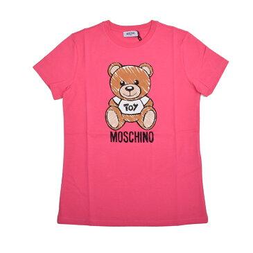 MOSCHINO モスキーノ TEEN ピンクTOYテディ半袖Tシャツ イタリア正規品 HPM01I 新品