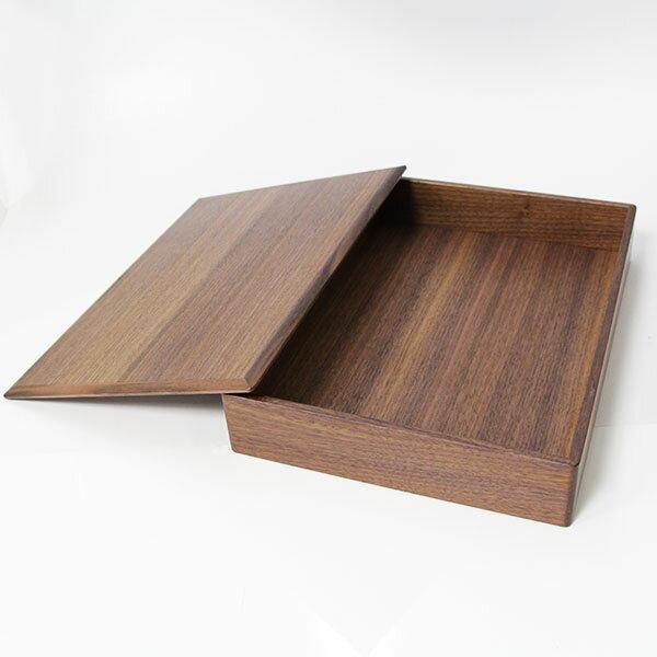 A4サイズ ファイルボックス ウォールナット 北欧風 国産 (木製 文庫 文箱)