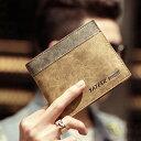 二つ折り 財布 メンズ 札入れ レザー コンパクト財布 ミニ財布 薄型 コンパクト 財布 カード収納財布 スマート財布 bag093