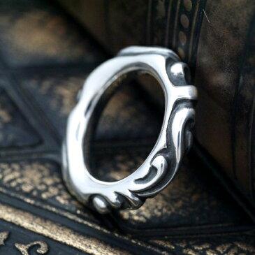 スクロールバンドリング 指輪 シルバー925 メンズ レディース ch006