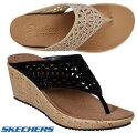 スケッチャーズSKECHERS31715BEVERLEE-SUMMERVISITトングサンダルウエッジソールレディース婦人BLKTPE靴