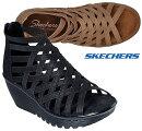 スケッチャーズSKECHERS41048PARALLEL-DREAMQUEENグラディエーターブーツサンダル厚底レディース婦人BLKTAN靴