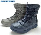 アウトレットSKECHERSスケッチャーズ49806レディース靴ブーツウィンターブーツ防寒ブーツ防水ネイビーチャコール靴