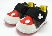 送料無料ディズニーDisneyDS0180ベビースニーカーファーストシューズミッキー赤ちゃん子供ブラック靴