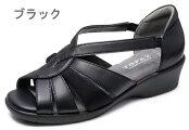 送料無料[北海道、沖縄除く]トパーズTOPAZS2088コンフォートサンダルオフィスサンダルレディース婦人3E幅広ブラックグレーデニムローズピンク靴