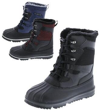 トレイルマスター スノーブーツ ビーンブーツ メンズ 紳士 防寒ブーツ 防水 靴 ブラック ダークレッド ダークブルー TR-017 017
