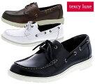 送料無料[沖縄除く]テクシーリュクスTU-7013texcyluxeデッキシューズレザースニーカーメンズ紳士ブラックホワイトワイン靴