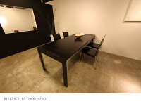 (片側)伸長式ダイニングテーブル1350cm(ダークブラウン)