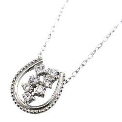 【送料無料】【_包装】k18ゴールド・チェーンペンダント・天然ダイヤモンド・馬蹄デザイン・4月誕生石(ホワイトゴールドイエローゴールドピンクゴールド)