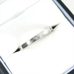 約2.6mm幅平らな指輪地金10kゴールド(ホワイトゴールドイエローゴールドピンクゴールド)【_包装】【送料無料】