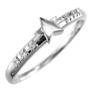 白金(プラチナ)900 天然ダイヤモンド 約0.06ct 4月誕生石スタージュエリー ピンキーリング 天...