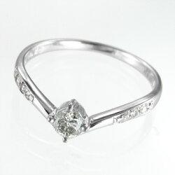 【送料無料】【_包装】k10ゴールド天然ダイヤモンド指輪オーダーメイド婚約指輪約0.26ct(ホワイトゴールドイエローゴールドピンクゴールド)