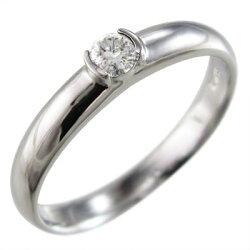 プラチナ900天然ダイヤモンド指輪オーダーメイド婚約指輪にも一粒石約0.10ct【_包装】【送料無料】