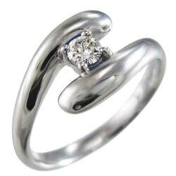 蛇リング白金(プラチナ)900蛇4月誕生石天然ダイヤモンド