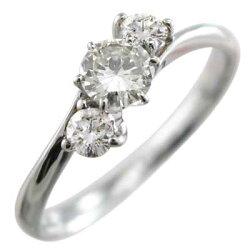 天然ダイヤモンド指輪オーダーメイド婚約指輪にも3ストーン10kゴールド4月誕生石(ホワイトゴールドイエローゴールドピンクゴールド)【_包装】【送料無料】