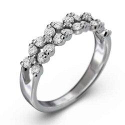 ファッションフラワー指輪天然ダイヤモンド約0.65ctk10ゴールド(ホワイトゴールドイエローゴールドピンクゴールド)【_包装】【送料無料】