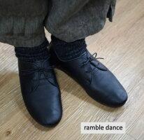 rambledanceシュリンクレザーレースアップシューズレディースシューズナチュラルレザーサイズ22cm22.5cm23cm23.5cm24cm24.5cm