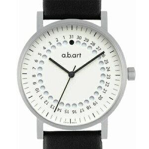 エービーアートa.b.art腕時計O-101Wラバーベルトメンズホワイト[WAT04]