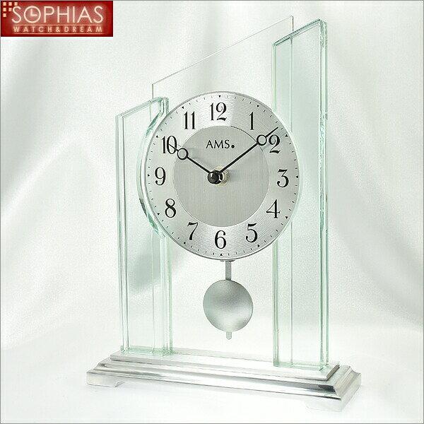 【正規輸入品】ドイツ アームス AMS 1168 クオーツ置き時計 振り子つき:時計のソフィアス
