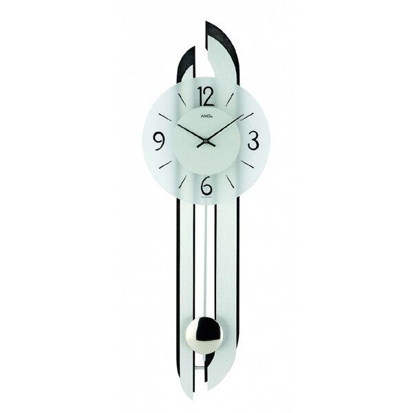 【正規輸入品】ドイツ アームス AMS 7330 クオーツ 掛け時計 (掛時計) 振り子つき ブラック [大型サイズ] 【記念品 贈答品に名入れ(銘板作成)承ります】【熨斗印刷承ります】:時計のソフィアス
