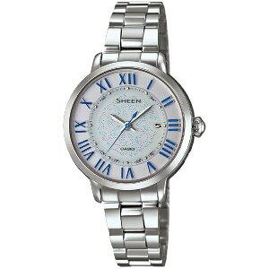 カシオシーン電波ソーラーFloatingIndexSeriesブルーレディース腕時計SHW-1650D-7AJF[CAS07]