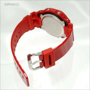 カシオGショック腕時計GWX-5600C-4JFG-LIDEGライドレッド電波ソーラー