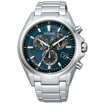 シチズン アテッサ AT3050-51L CITIZEN ATTESA クロノグラフ エコ・ドライブ 電波時計 ブルー メンズ腕時計 【長期保証5年付】