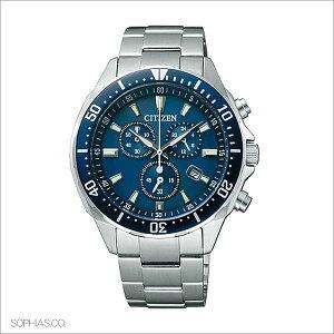シチズンオルタナCITIZENALTERNAエコ・ドライブクロノグラフブルーメンズ腕時計VO10-6772F