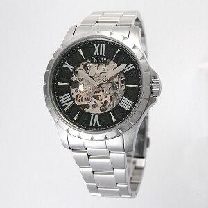 フルボデザインFurbodesignF5021オートマチック自動巻ブラックメタルベルトメンズ腕時計F5021BKSS/96598