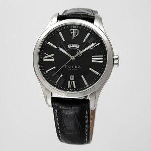 フルボデザインFurbodesignF5024オートマチック自動巻ブラックレザーベルトメンズ腕時計F5024SBKBK/191916