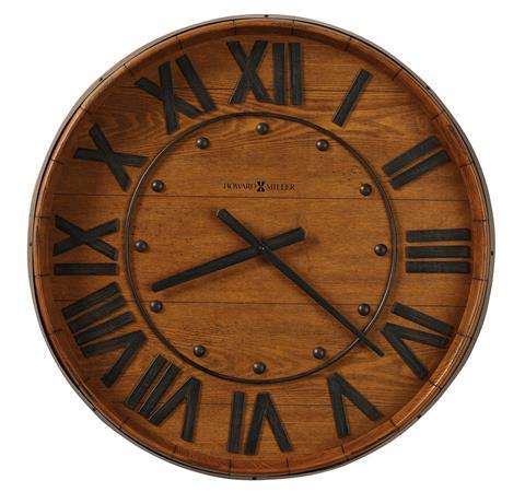 【正規輸入品】 アメリカ ハワードミラー 625-453 HOWARD MILLER WINE BARREL WALL クオーツ式掛け時計 [大型サイズ]:時計のソフィアス
