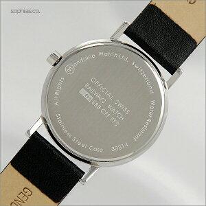 モンディーンMONDAINEニュークラシックデイデイトクォーツブラックレザーメンズ腕時計A667.30314.11SBB/MD217