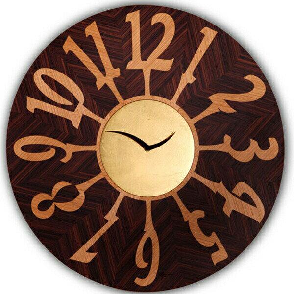 【正規輸入品】 イタリア ピロンディーニ ART060A Pirondini 木製掛け時計 Orvieto 060A ブラウン:時計のソフィアス