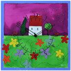 【正規輸入品】 イタリア ピロンディーニ ART088 Pirondini 木製掛け時計 花屋敷 Flower House 88