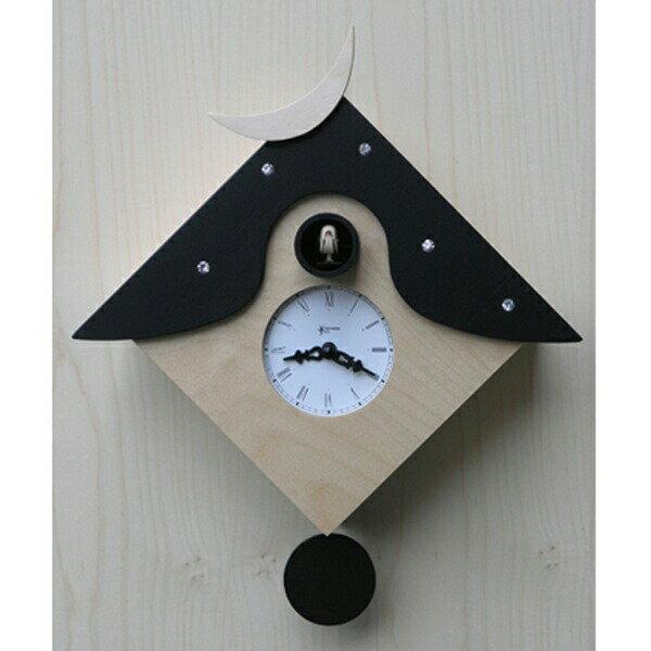 【正規輸入品】 イタリア ピロンディーニ 104A Pirondini 木製鳩時計 Cucu CTRANT ブラック:時計のソフィアス