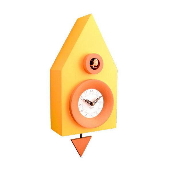【正規輸入品】 イタリア ピロンディーニ 114-YELLOW Pirondini 木製鳩時計 Dark 114 イエロー:時計のソフィアス