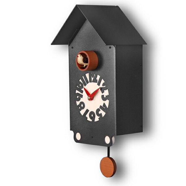 【正規輸入品】 イタリア ピロンディーニ 151B Pirondini メタル鳩時計 Casetto ブラック:時計のソフィアス