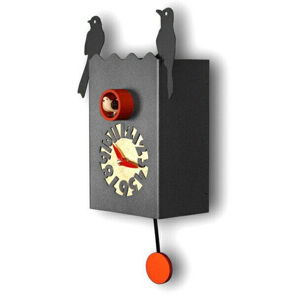 【正規輸入品】 イタリア ピロンディーニ 156B Pirondini メタル鳩時計 Duetto ブラック:時計のソフィアス