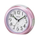 リズム時計 クロック デイリー 8REA21DN13 クオーツ めざまし時計 (目覚まし時計) デイリーRA21 ピンクメタリック 【記念品 贈答品 名入れ承ります】【熨斗印刷承ります】