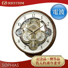 リズム時計スモールワールド電波からくり時計(掛時計)シーカー4MN515RH23