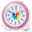 知育時計【SEIKO】セイコー クロック クオーツ KR887P めざまし時計 (目覚まし時計) 薄ピンクパール 【記念品 贈答品 名入れ承ります】【熨斗印刷承ります】