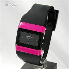 【長期保証3年付き】ワイズ アンド オープ 腕時計 wize & ope クラシックス CLASSICS ブラック×ピンク アナログ クォーツ腕時計 WO-011 [WAT30]