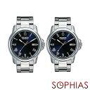 ペアウォッチ スイスミリタリー ML376&ML378 ペア腕時計 ローマン シルバー×ブルー 【長期保証5年付】