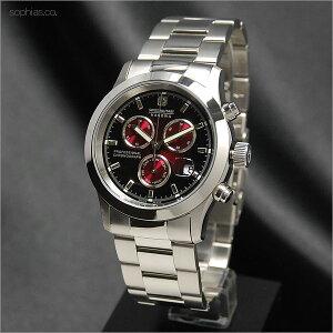 スイスミリタリーSWISSMILITARYエレガントビッグクロノボルドーメタルベルトメンズ腕時計ML185