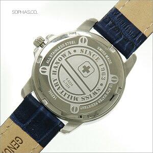 スイスミリタリー腕時計ローマンシルバー×ブルーレザーレディースML382
