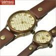 ペアウオッチ 手作り腕時計 ヴィー WB-048-BR-P1 vie クォーツ [電池式] 英字文字盤 [L+Sサイズ] ペア腕時計