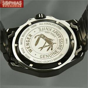 ウェンガー腕時計海外モデル70487ALPINEアルパインブラック×シルバーメンズ[SB][WAT31]