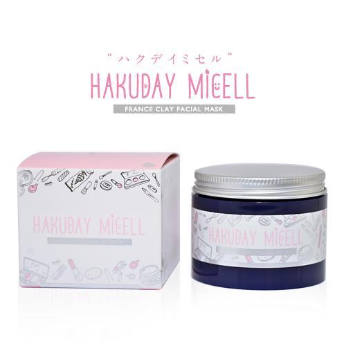 Hakuday micellフレンチクレイフェイシャルマスク / 80g / 毛穴すっきり、でも突っ張りにくい / バラの香り